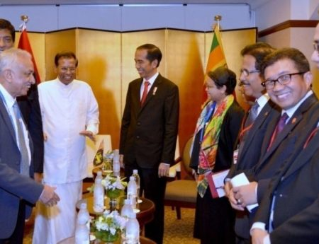 Meeting between President of Sri Lanka H.E. Maithripala Sirisena with President of Indonesia  H.E. Joko Widodo