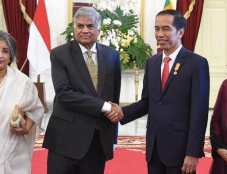 Meeting Between Prime Minister of Sri Lanka, Hon. Ranil Wickremesinghe with President of Indonesia, H.E. Joko Widodo