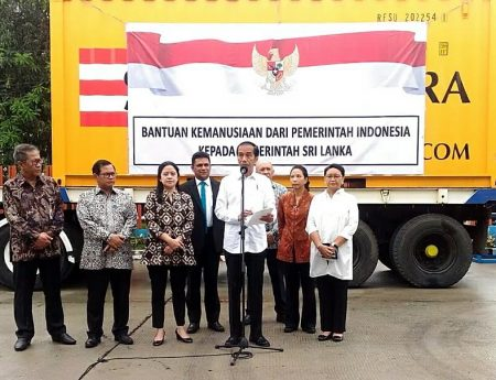 Indonesian President Joko Widodo Launches Rice Donation to Sri Lanka