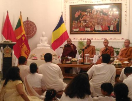 SRI LANKA EMBASSY IN JAKARTA OBSERVED VESAK  DAY