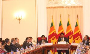 Foreign Minister Karunanayake Briefs Diplomatic Corps On Flood