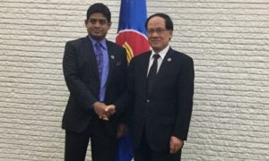 State Minister of Foreign Affairs Meets ASEAN Secretary General in Manila
