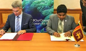State Minister Vasantha Senanayake Leads Sri Lanka Delegation to  International Our Oceans Conference