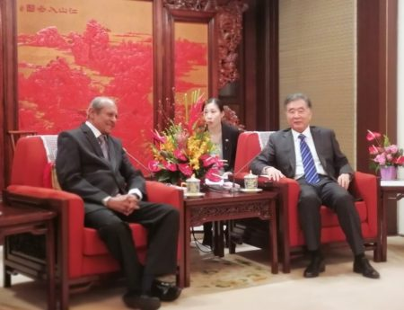 FM Tilak Marapana Meets VP of China