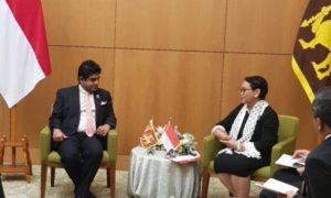 State FM Vasantha Senanayake Meet With Indonesian FM