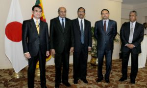 Japanese Foreign Minister Taro Kono Visits Sri Lanka