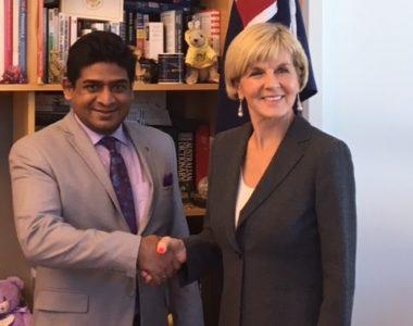 State Minister of Foreign Affairs Vasantha Senanayake visits Australia