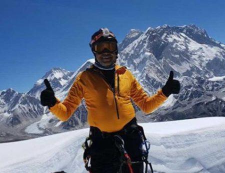 Johann Peiris Summited Mount Everest