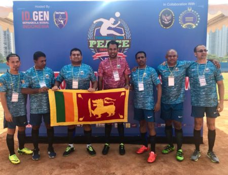 SRI LANKANS JOIN FOOTBALL FOR PEACE INITIATIVE IN JAKARTA