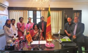 Ambassador-Designate Of Sri Lanka to Indonesia Ms Yasoja Gunasekera Assumes Duties
