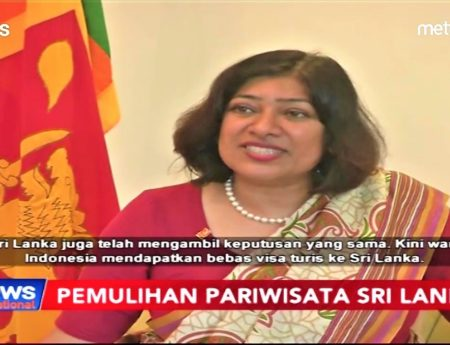Ambassador Yasoja  Encourages Indonesians  Going Holiday to Sri Lanka Using Free Visa