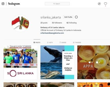 Sri Lanka Embassy in Indonesia Now in Instagram