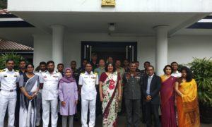 DSCSC DELEGATION VISITS THE EMBASSY OF SRI LANKA IN JAKARTA