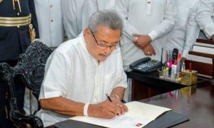 President Rajapaksa Assumes Duties