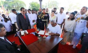 H. E. Gotabaya Rajapaksa was Sworn in as the 7th Executive President of  Sri Lanka in Anuradhapura on 18th November 2019.