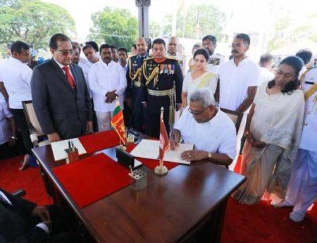 H. E. Gotabaya Rajapaksa was Sworn in as the 7th Executive President of  Sri Lanka in Anuradhapura on 18th November 2019.