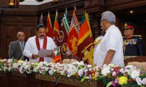 Mahinda Rajapaksa Sworn In As  Prime Minister