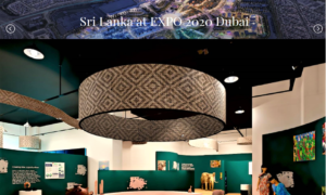 SRI  LANKA  LAUNCHED  WEBSITE ON ITS PARTICIPATION AT  EXPO 2020 DUBAI