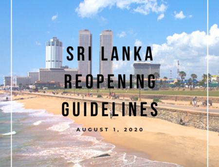 Sri Lanka Reopening Guidelines