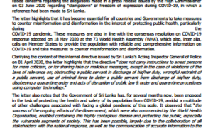 Sri Lanka raises concerns on reference to Sri Lanka in OHCHR press release