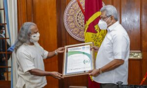President Honoured for Leading an Eco-friendly Presidential Election Campaign