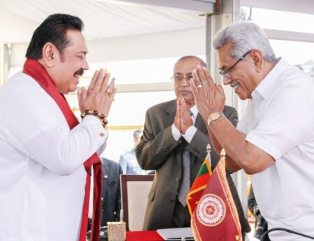 Hon. Mahinda Rajapaksa sworn in as the 13th Prime Minister of Sri Lanka