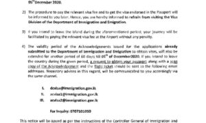 Extension of Visas for Foreigners in Sri Lanka