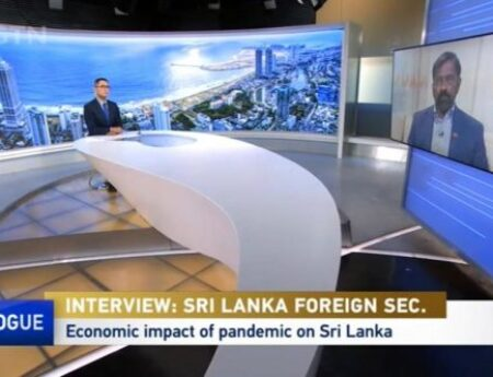 """Foreign Secretary Admiral Prof. Jayanath Colombage's Interview on """"CGTN Dialogue"""" – 12 April 2021"""