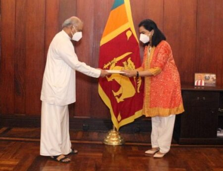 FOREIGN MINISTER DINESH GUNAWARDENA MEETS THE NEW WHO REPRESENTATIVE TO SRI LANKA