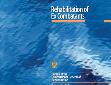Book on Rehabilitation of Ex-Combatants by Bureau of the Commissioner General of Rehabilitation and Department of Government Information